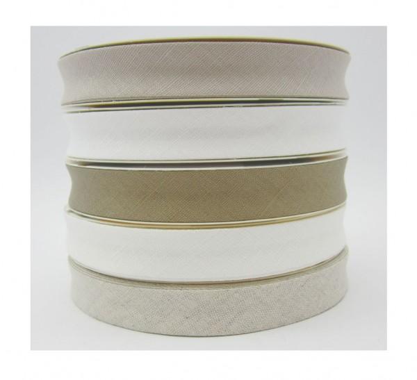 Leinen Schrägband 18mm breit - 5 Farben lieferbar
