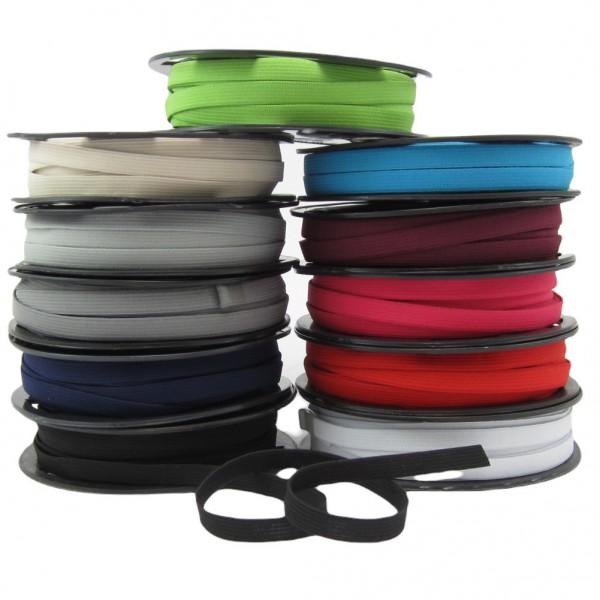 Gummiband 10mm breit, 11 Farben zur Auswahl