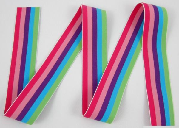 Multi-Streifen, 40mm, verschiedene Farben, elastisch