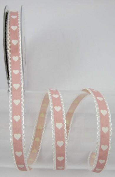 Miniherz rosa 15mm breit