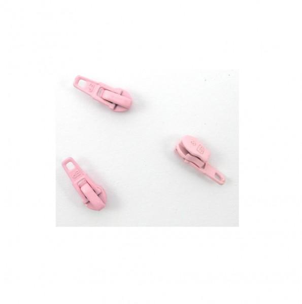 Schieber für Spiral Reißverschluss 4mm - perlrosa