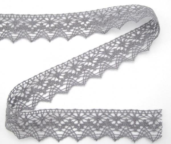 Baumwollspitze, grau, 30mm breit