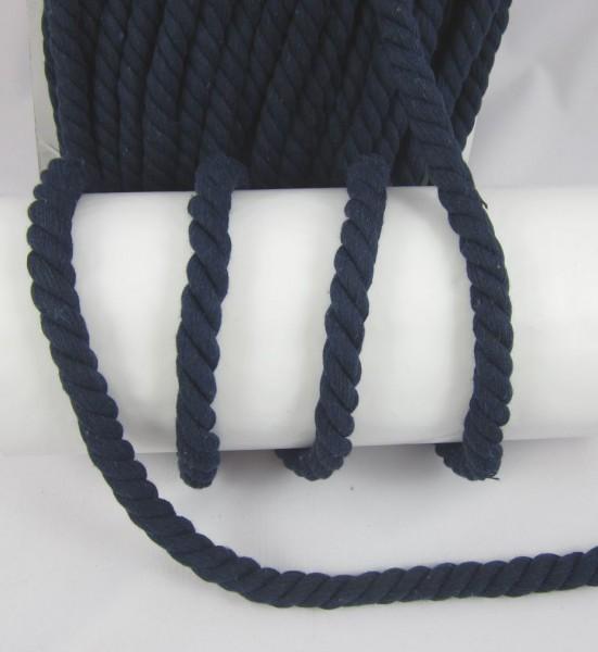 Baumwollkordel, gedreht, 14mm, marineblau