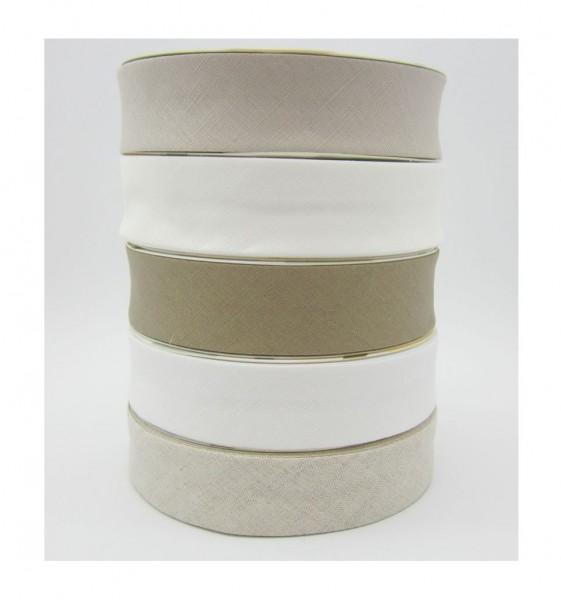 Leinen Schrägband 30mm breit - 5 Farben lieferbar