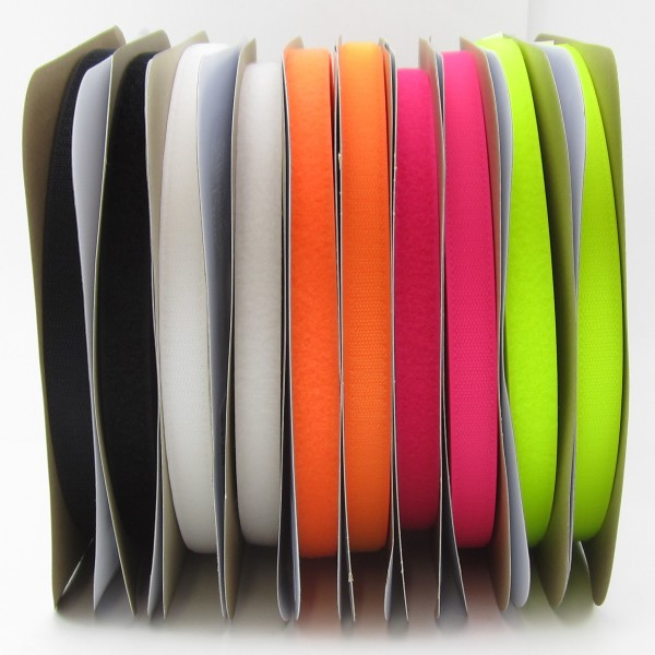 Hakenband für Klettverschluß, 20mm breit - 5 Farben zur Auswahl