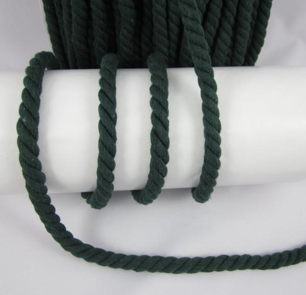 Baumwollkordel, gedreht, 14mm, dunkelgrün