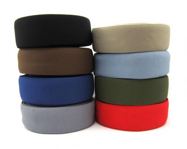 Elastic Band, 50mm - längs & quer elastisch - 8 Farben lieferbar