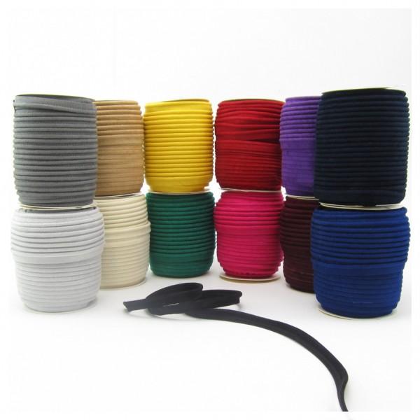 Paspel Wildlederoptik, 10mm breit, 13 Farben zur Auswahl