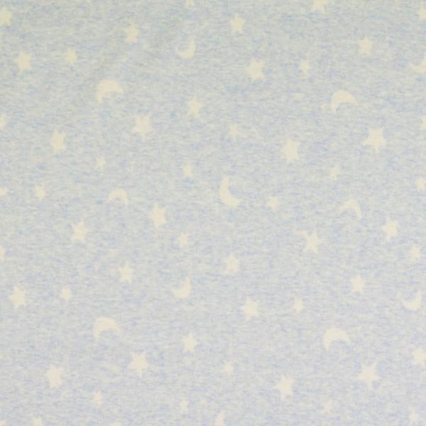 Jersey Stoff, Sterne, hellblau
