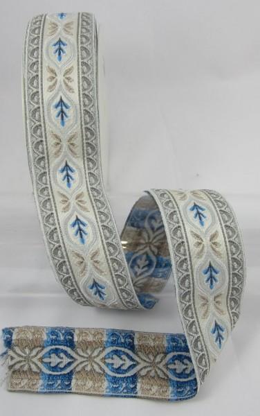 Jacquard Borte Blatt, blau