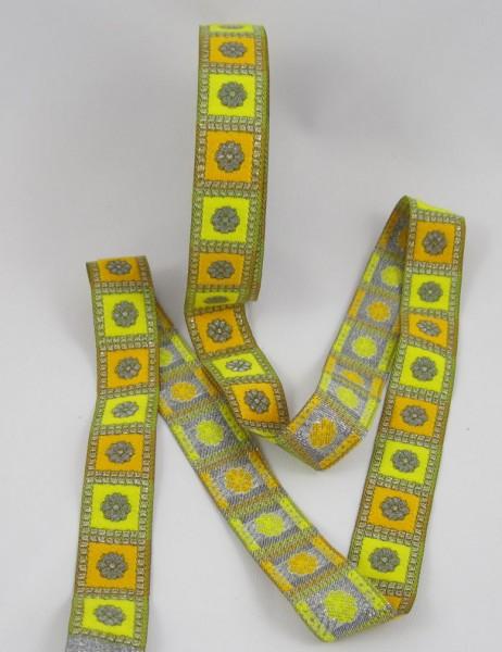Blume Jacquardband 24mm, gelb