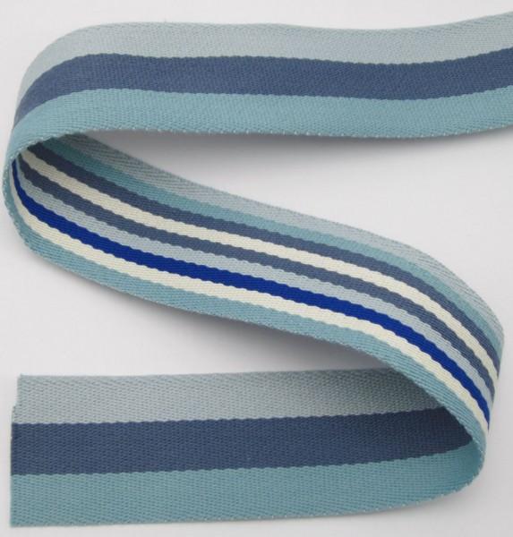 Gurtband mit Streifen, Polyester, 8 Farben lieferbar, 40mm breit
