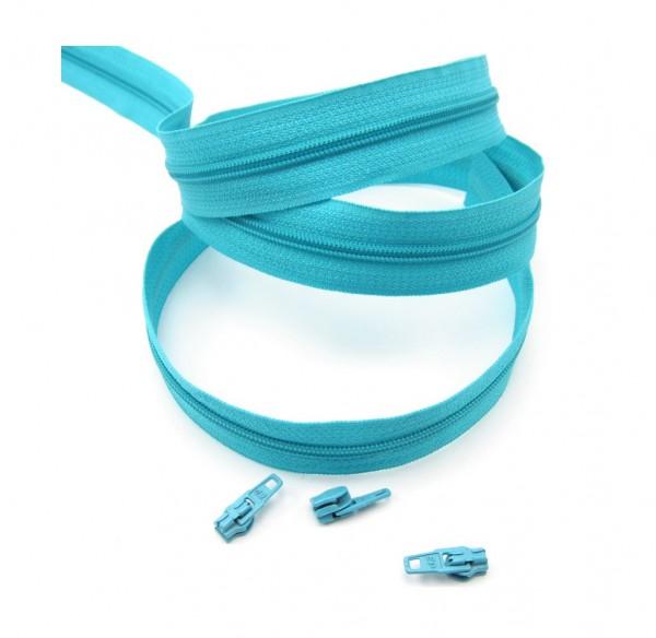Endlosreißverschluss, 4mm Spirale - türkis