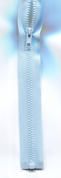 Jackenreißverschluss hellblau
