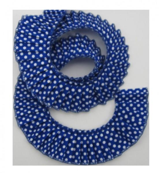 Rüschenband mit weiße Punkte, 11 Farben verfügbar