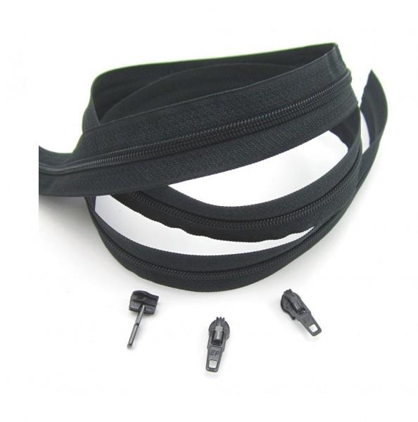 Endlosreißverschluss, 4mm Spirale - anthrazit