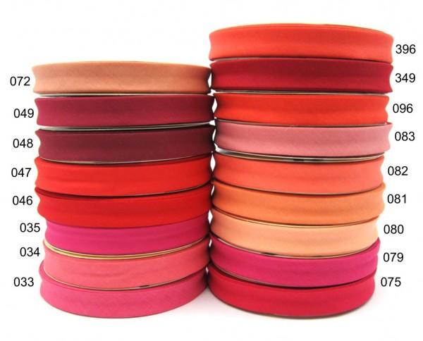 Polyester-Baumwolle Schrägband 30mm, rot - orange