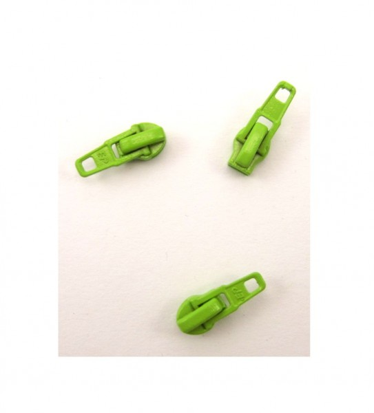 Schieber für Spiral Reißverschluss 4mm - lemongrün