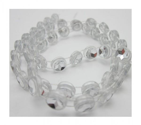 Diamonds, glitzerndes Perlenband, silber glänzend