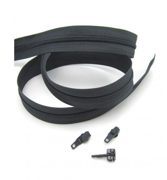 Endlosreißverschluss, 4mm Spirale - anthrazitgrau
