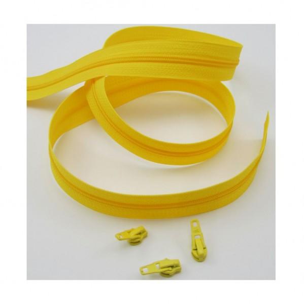 Endlosreißverschluss, 4mm Spirale - gelb