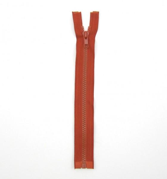 Jackenreißverschluss rostbraun