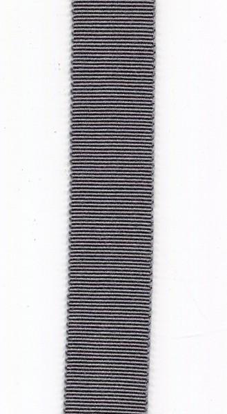 Ripsband 15mm grau