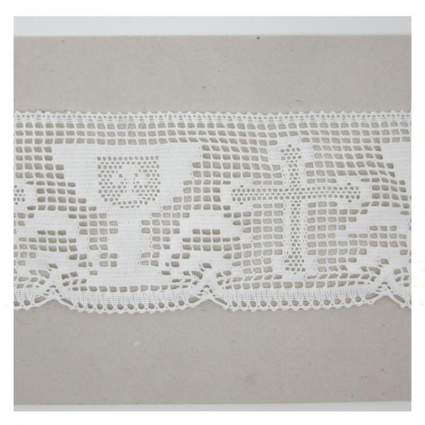 Spitze Baumwolle, weiß, 110mm breit