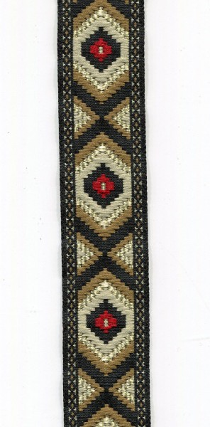 Jacquardborte Indianer grün 9453868