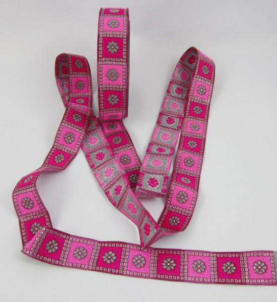 Blume Jacquardband 24mm, pink