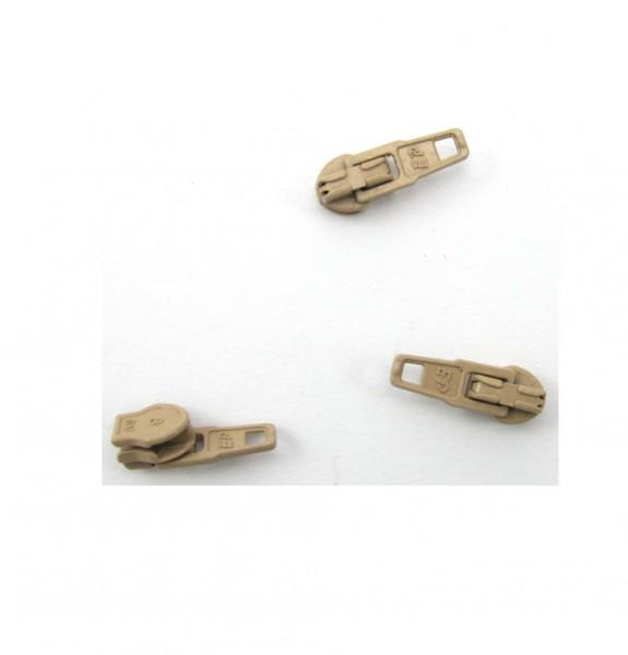 Schieber für Spiral Reißverschluss 4mm - beige