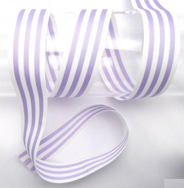 Streifenband, Ripsband, 25mm, 9 Farben