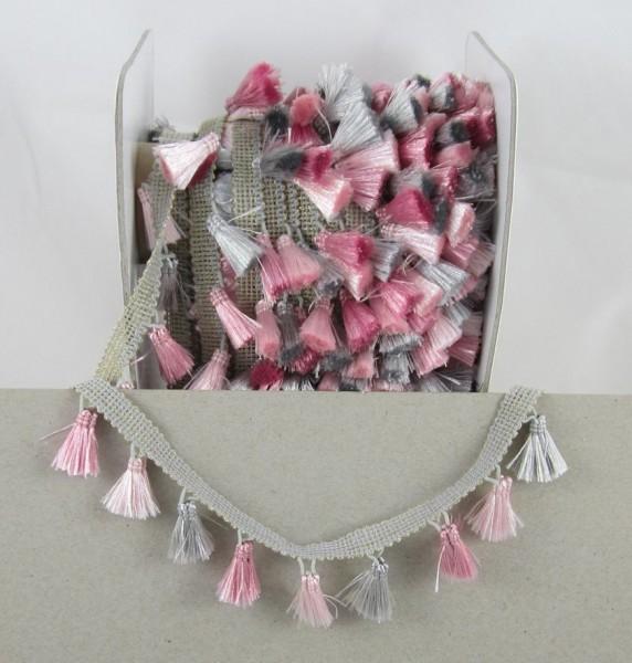 Troddelborte rosa-silber