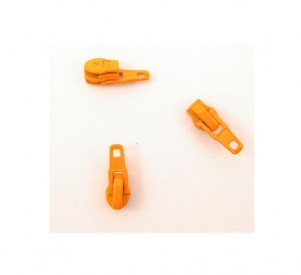Schieber für Spiral Reißverschluss 4mm - orange