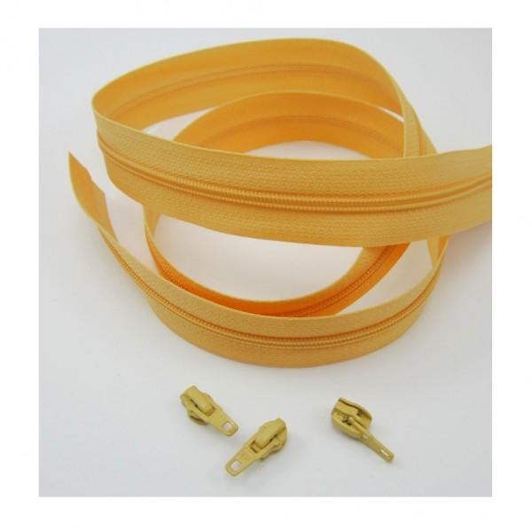 Endlosreißverschluss, 4mm Spirale - steinbeige