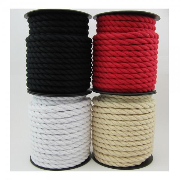 Baumwollkordel, gedreht, weiches Material, 14mm - 5 Farben