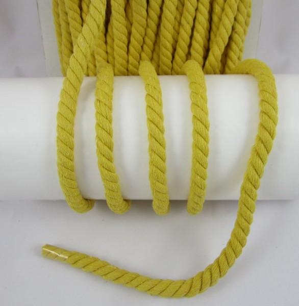 Baumwollkordel, gedreht, 14mm, gelb