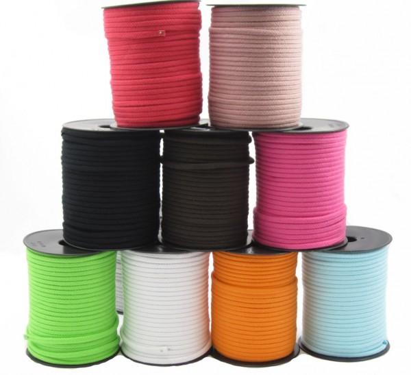 Baumwollkordel 6 mm - in 27 Farben lieferbar