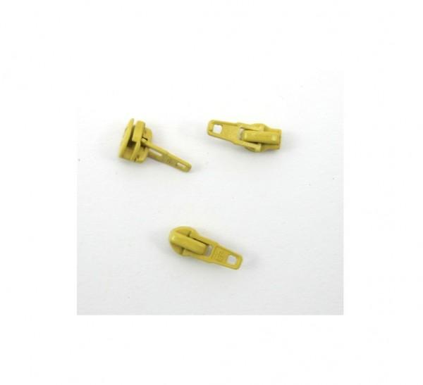 Schieber für Spiral Reißverschluss 4mm - steinbeige